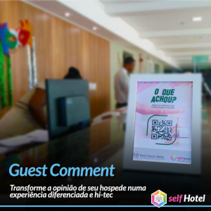 Guest Coment do selfHotel via Qr Code do Hotel Real Classic Bahia